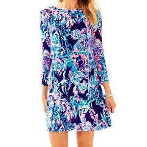 LILLY PULITZER OLIVE LUXE VELOUR DRESS NWT XS